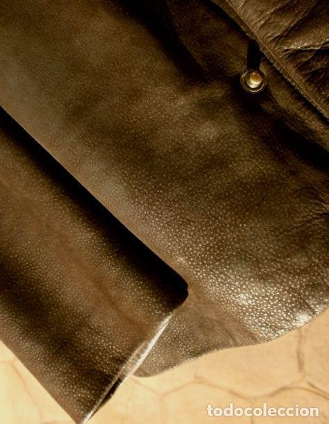 Vintage: CHAQUETON PIEL CUERO HOMBRE (SEMI NUEVO) MARCA SAND KEY (años 80) CHAQUETA TALLA 48 - calidad-abrigo - Foto 9 - 118110099
