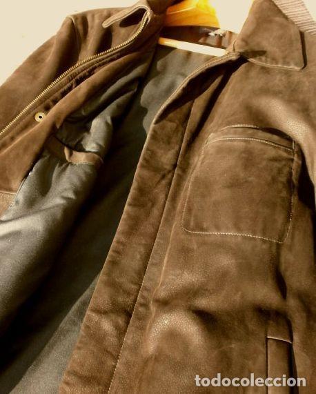Vintage: CHAQUETON PIEL CUERO HOMBRE (SEMI NUEVO) MARCA SAND KEY (años 80) CHAQUETA TALLA 48 - calidad-abrigo - Foto 10 - 118110099