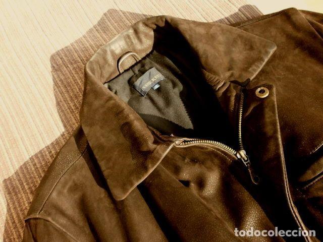 Vintage: CHAQUETON PIEL CUERO HOMBRE (SEMI NUEVO) MARCA SAND KEY (años 80) CHAQUETA TALLA 48 - calidad-abrigo - Foto 11 - 118110099