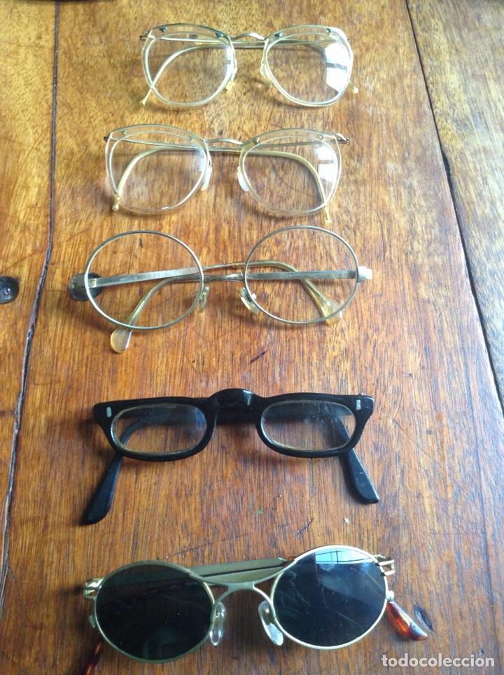Vintage: Cinco gafas antiguas años 60-70-80 y regalo fundas - Foto 2 - 118712914