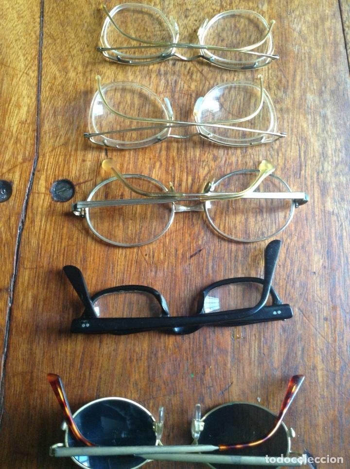 Vintage: Cinco gafas antiguas años 60-70-80 y regalo fundas - Foto 3 - 118712914