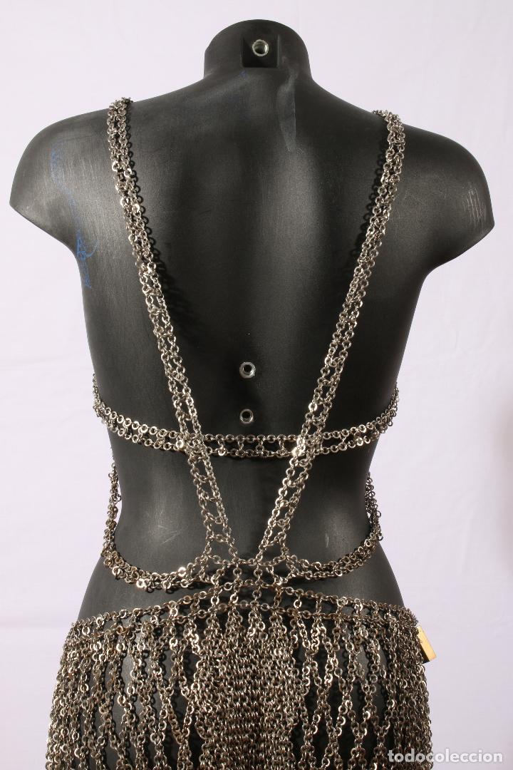 Vintage: Vestido único 100% artesanal confeccionado con pequeñas arandelas de acero. Talla 40-42 - Foto 3 - 119128103
