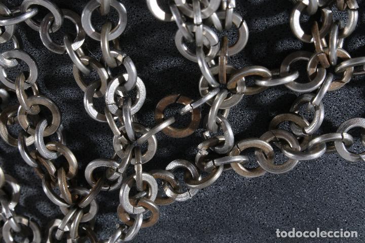 Vintage: Vestido único 100% artesanal confeccionado con pequeñas arandelas de acero. Talla 40-42 - Foto 9 - 119128103
