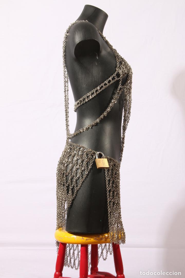Vintage: Vestido único 100% artesanal confeccionado con pequeñas arandelas de acero. Talla 40-42 - Foto 13 - 119128103