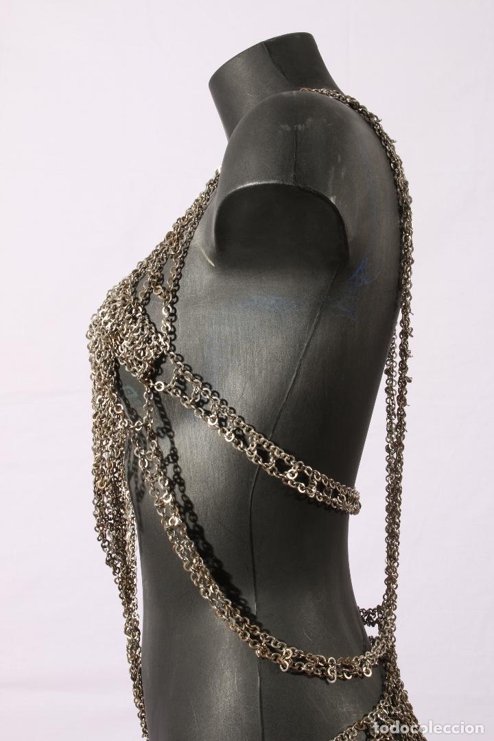 Vintage: Vestido único 100% artesanal confeccionado con pequeñas arandelas de acero. Talla 40-42 - Foto 14 - 119128103