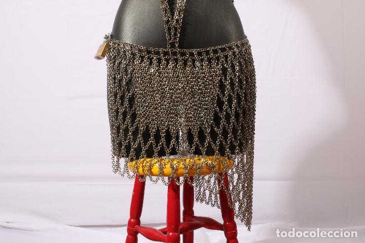 Vintage: Vestido único 100% artesanal confeccionado con pequeñas arandelas de acero. Talla 40-42 - Foto 16 - 119128103
