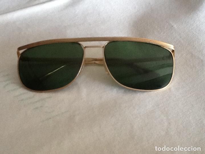 6df40c89f8f1b Gafas de sol de caballero montura dorada lentes - Vendido en Venta ...