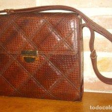 Vintage: ORIGINAL BOLSO DE PIEL DE SERPIENTE,VICOSTA.. Lote 120135899