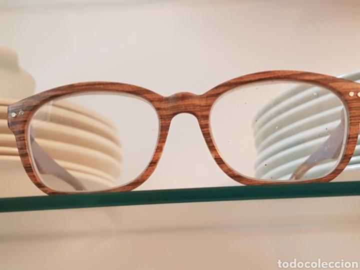 Gafas de pasta con montura imitación madera, cristales graduados segunda mano