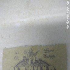 Vintage: OLD CHAP. ETIQUETA DE CUERO. AÑOS 70. Lote 124916264