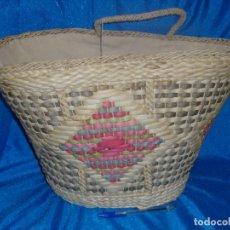 Vintage: CAPAZO BOLSO MIMBRE DE SALVADOR MULET, AÑO 1992, NUEVO SIN USAR.. Lote 126115559