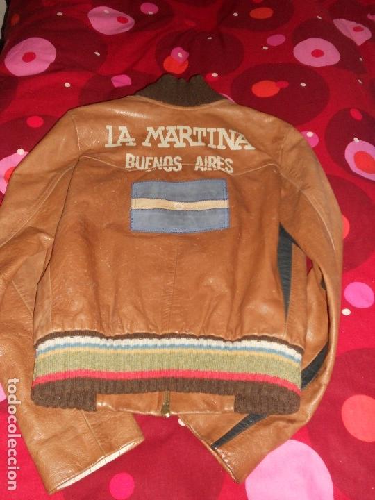 Vintage: CHAQUETA DE PIEL LEGITIMA LA MARTINA FIRMADA POR JUAN JOSE ALBERDI JUGADOR DE POLO - Foto 4 - 126124435