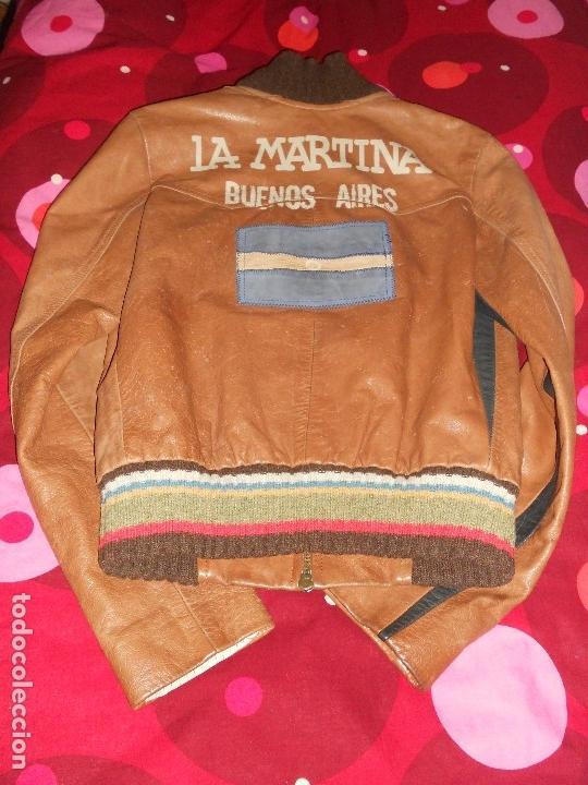 Vintage: CHAQUETA DE PIEL LEGITIMA LA MARTINA FIRMADA POR JUAN JOSE ALBERDI JUGADOR DE POLO - Foto 5 - 126124435