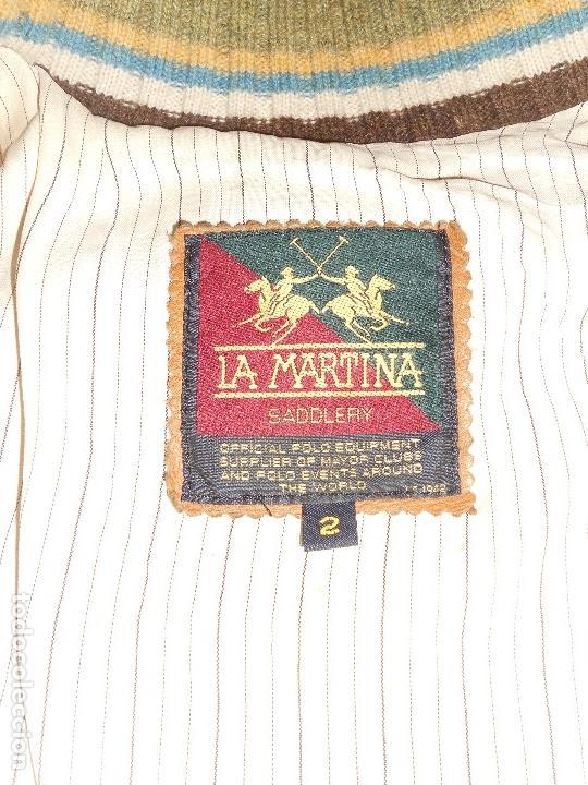 Vintage: CHAQUETA DE PIEL LEGITIMA LA MARTINA FIRMADA POR JUAN JOSE ALBERDI JUGADOR DE POLO - Foto 19 - 126124435