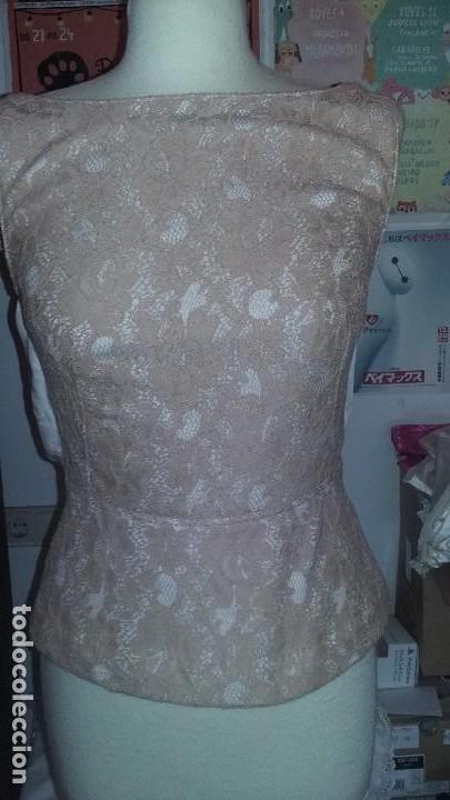 TOP DE FIESTA ENCAJE (Vintage - Moda - Mujer)