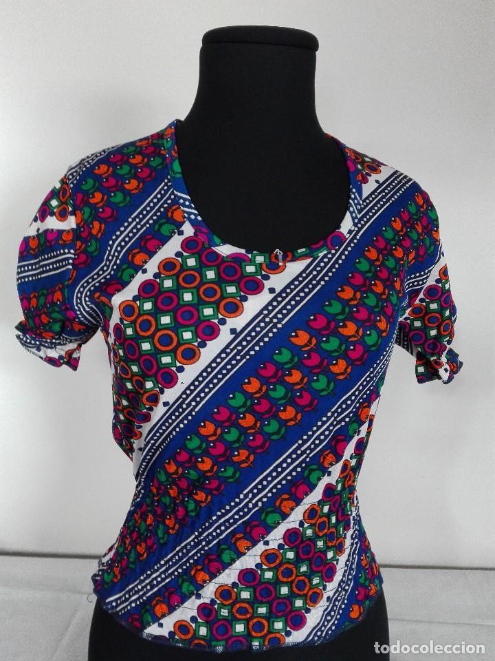 Vintage: BLUSA RETRO MUJER AÑOS 70 - Foto 7 - 127492807