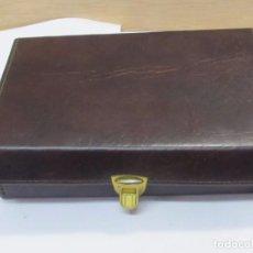 Vintage: ELEGANTE NECESER DE PIEL PARA CABALLERO. Lote 127847091