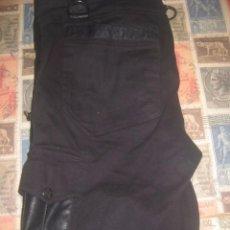 Vintage: BLACK SHORTS MOTO BIKER GOTH PUNK JEANS GOTHIC PANTS FARO HARLEY CUSTOM RARE USA LOS ANGELES. Lote 128082671