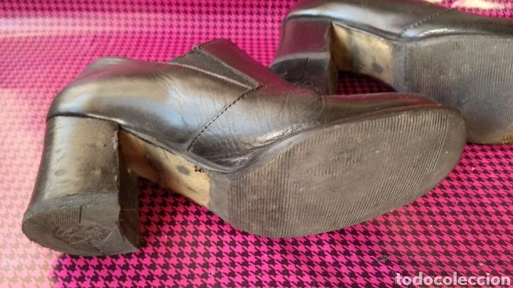 Vintage: ZAPATOS DE PIEL NEGRA - Foto 4 - 129313102