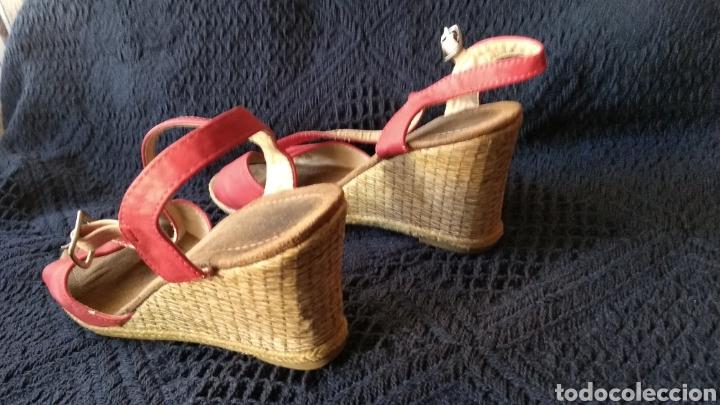 Vintage: SANDALIAS DE PIEL ROJAS - Foto 3 - 129318115