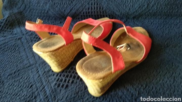 Vintage: SANDALIAS DE PIEL ROJAS - Foto 4 - 129318115