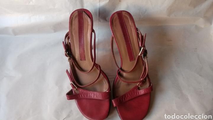 SANDALIAS DE PIEL (Vintage - Moda - Mujer)
