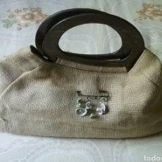 Vintage: BOLSO VINTAGE.GALENIC. EN TELA TIPO SACO.CON ASAS SIMILAR A MADERA. CON DOS BOLSILLOS INTERIOR.. Lote 129457004