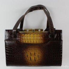 Vintage: VE-268 BOLSO EN PIEL DE COCODRILO.AÑOS 50-60. Lote 130311718