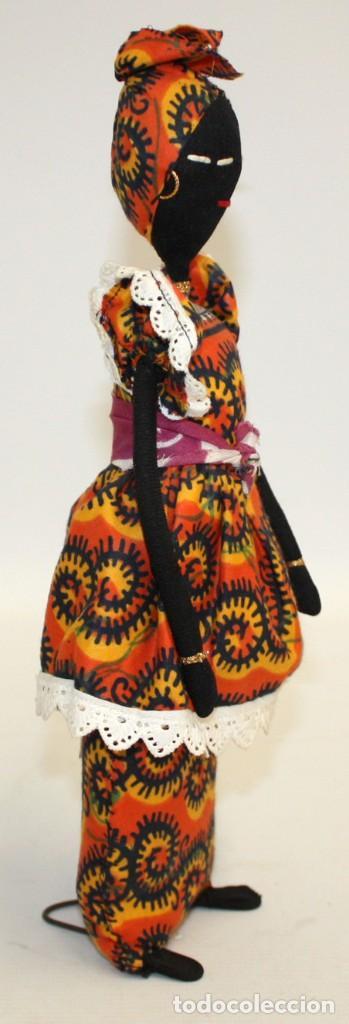 Vintage: BONITA NEGRITA (NIGERIANA),DE PAÑO. - Foto 3 - 131536574