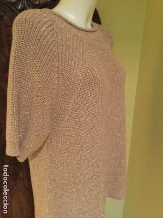 Vintage: Jersey punto Fiesta dorado diseñador firma Sintesis ,Edicion limitada - Foto 3 - 131611318