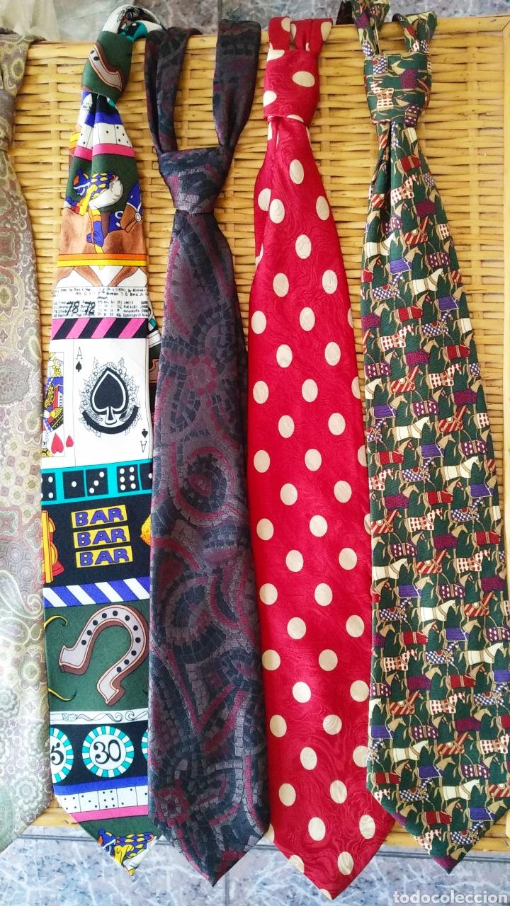 Vintage: Lote de 5 corbatas de seda - Foto 2 - 131627119