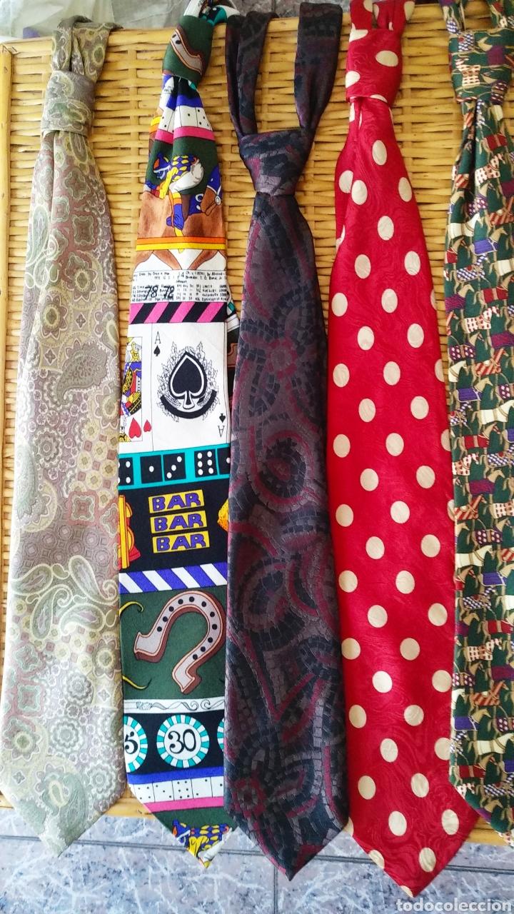 Vintage: Lote de 5 corbatas de seda - Foto 4 - 131627119
