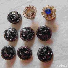Vintage: M69 MAGNÍFICO LOTE DE 9 BOTONES ÚNICOS AÑOS 20. BOTONES ART DECO.. Lote 131737474