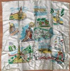 Vintage: PAÑUELO DE SEDA DE PROMOCION DE CARTAGENA. Lote 132586834