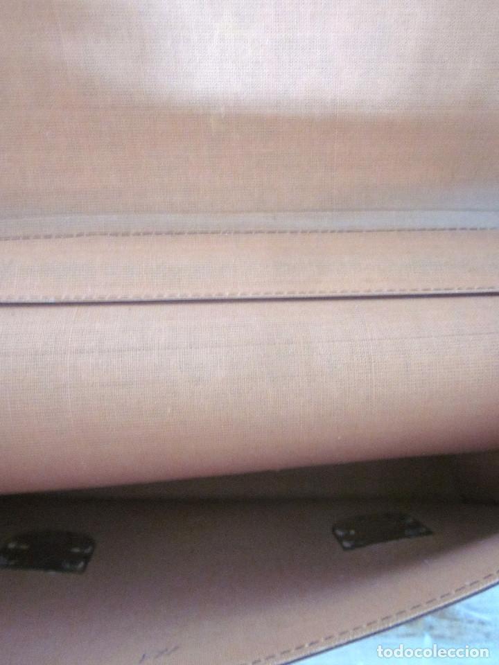 Vintage: Cartera maleta escuela maletín escolar marca Roy nueva sin estrenar con llaves color burdeos - Foto 7 - 132980926