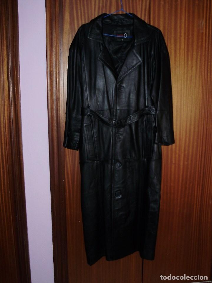 Vintage: Abrigo cuero caballero. largo. - Foto 2 - 60992707