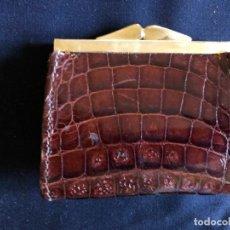 Vintage: MONEDERO PIEL COCODRILO. Lote 135096542