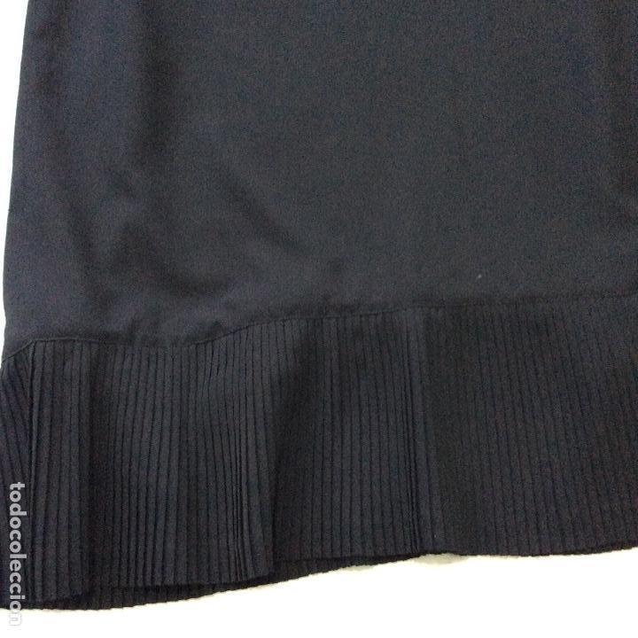 Vintage: Vestido negro con el cuello de espectacular encaje y volante plisado abajo - Foto 9 - 135596250