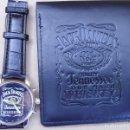 Vintage: CONJUNTO PROMOCINAL DE RELOJ Y BILLETERA DE JACK DANIELS NUEVOS. Lote 159812910