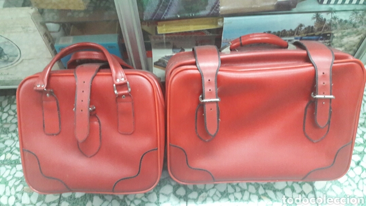 2 maletas vintage años 70 envio incluido segunda mano