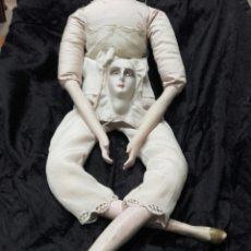 Vintage: ANTIGUO CUERPO DE MUÑECA ART DECO EN MADERA Y TRAPO. Lote 138106110