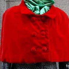 Vintage: CAPELINA DE TERCIOPELO ROJO DE LOS AÑOS 40 HECHO A MEDIDA. Lote 138670638