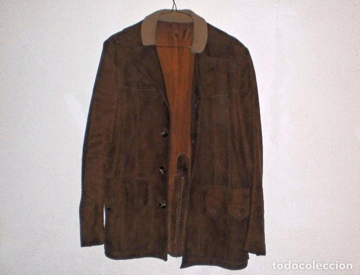 BFW TURMKLEIDUNG. CHAQUETA CUERO ALEMANA. TALLA 44-46 (APROX). POCO USO (Vintage - Moda - Hombre)