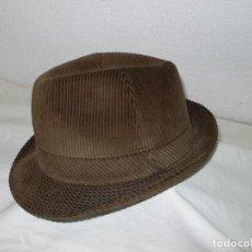 Vintage: SOMBRERO EN PANA. Lote 139333230