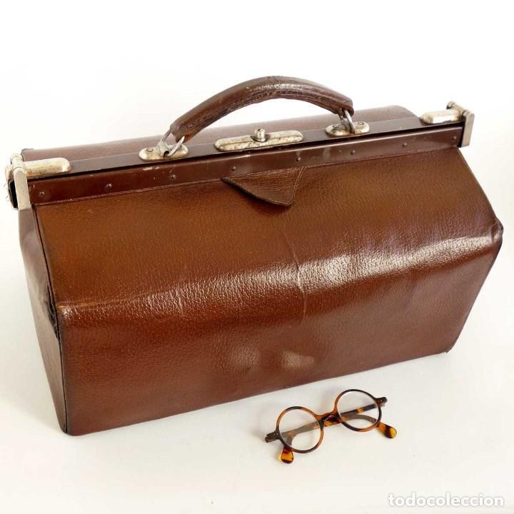 elegir original descuento especial varios estilos Antiguo maletín médico con lona. años 40 - Vendido en Venta ...