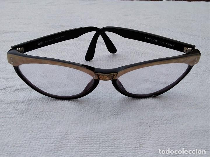 Vintage: Gafas( indo España) boutique papillon. Años 80.grieta base ojo izquierdo. Para arreglar. - Foto 3 - 140139266