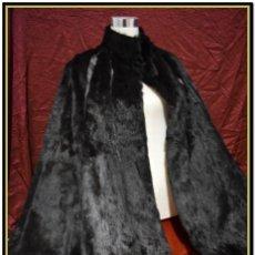 Vintage: CAPA DE PIEL NEGRA. Lote 142825818