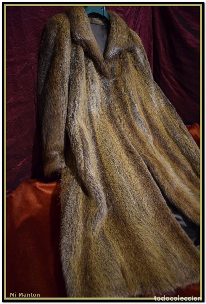 ABRIGO DE PIEL DE NUTRIA (Vintage - Moda - Mujer)