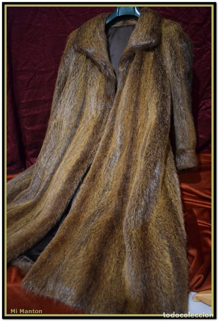 Vintage: Abrigo de piel de nutria - Foto 2 - 187638826