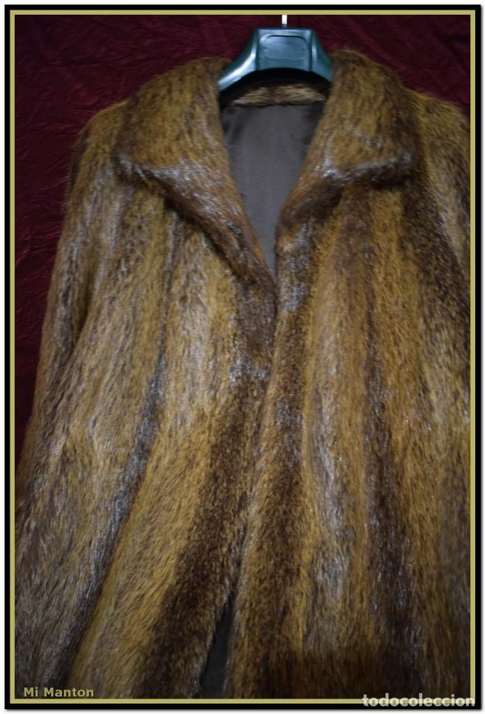 Vintage: Abrigo de piel de nutria - Foto 3 - 187638826